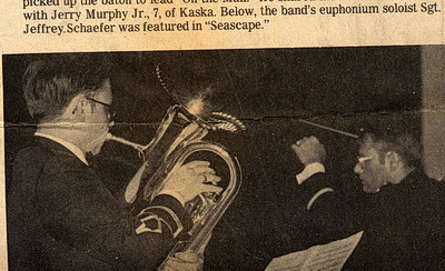 Newspaper clipping of Jeff as a euphonium soloist