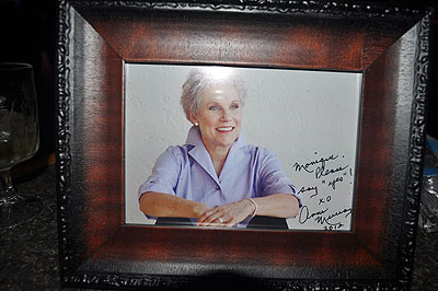 Anne Murray's autographed photo