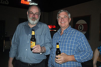 Jeff and Bill enjoy a well-earned beer